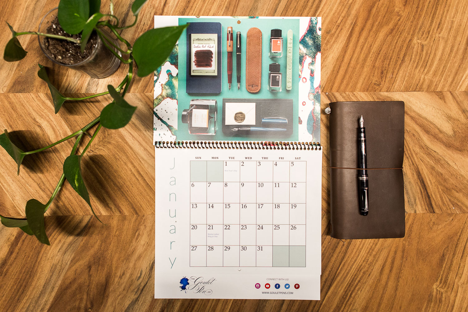 Gpc Calendar 2019 The 2019 Goulet Fountain Pen Calendar is Here! – Goulet Pens Blog