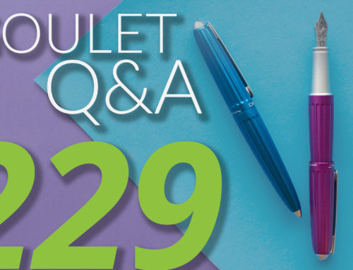 Goulet Q&A Episode 229: Conklin Empire, Handwriting Styles, and Surprising Top Sellers