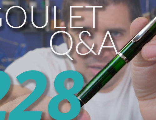 Goulet Q&A Episode 228: TWSBI GO in Ink Samples, Overcoming Pen Intimidation, and Boutique Pen Brands!