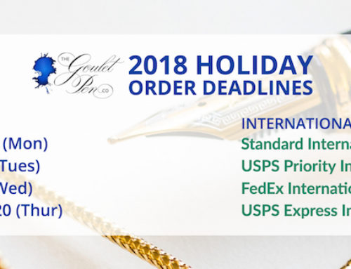 2018 Holiday Order Deadlines