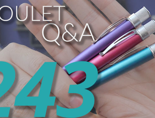 Goulet Q&A Episode 243: LE Ink, Pen Cleaning Station, and How Pen Retailers Treat Each Other