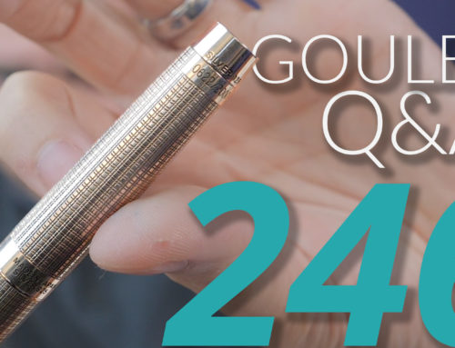 Goulet Q&A Episode 246: Hottest Release in 2019, Advice to Entrepreneurs, Selling Brian and Rachel's Pens