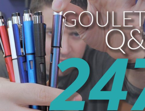 Goulet Q&A Episode 247: Visiting Japan, Tine Spacing, and Using Collectible Pens