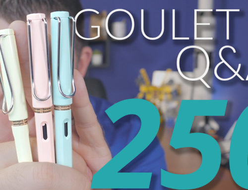 Goulet Q&A Episode 250: Best Broad Nibs, Testing Pens You Can't Hold, and Best Gripped Pens Under $50