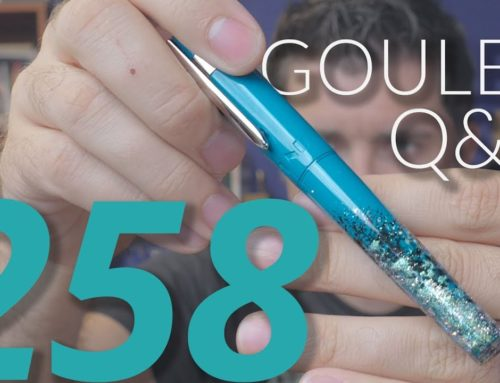 Goulet Q&A Episode 258, Nib Tipping Alloys, Noodler's Charlie Pens, and Goulet Bottom Shelf Pens