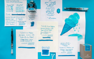 A Goulet Inksploration featuring Jacques Herbin Kyanite du Nepal fountain pen ink.