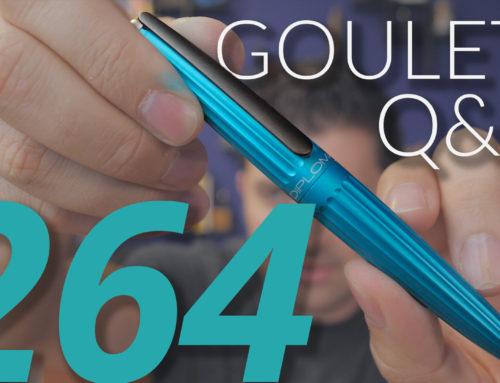 Goulet Q&A Episode 264: Omniflex Improvements, Colorful LAMY 2000s, and Making Nibs Less Smooth