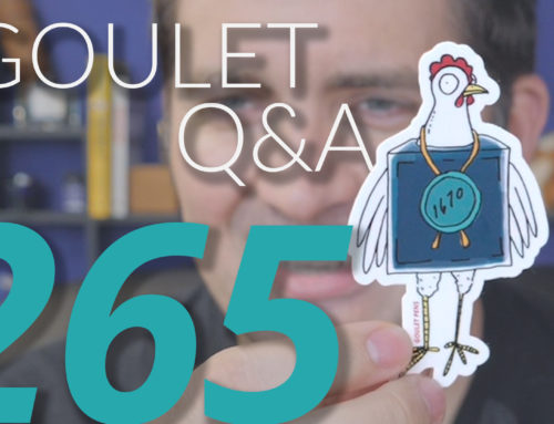 Goulet Q&A Episode 265: Ideal Pen Weight, Product Reviews, and an Amazing Vendor Origin Story