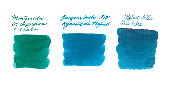 Turquoise Fountain Pen Inks