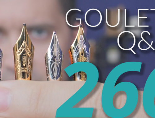 Goulet Q&A Episode 266: Huge Nibs, Brian's 5 Favorite Diamine Inks, and Sterilizing Pens