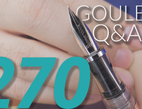 Goulet Q&A Episode 270: Pen Materials, Inks for the Colorblind, and Enthusiast Gifts