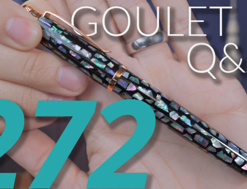 Goulet Q&A Episode 272: Shimmering Ink Drying In Pens, and the Best Selling Pen of 2019