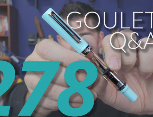 Goulet Q&A 278: High End Pen QC, TWSBI ECO vs 580, and Pens for Small Hands