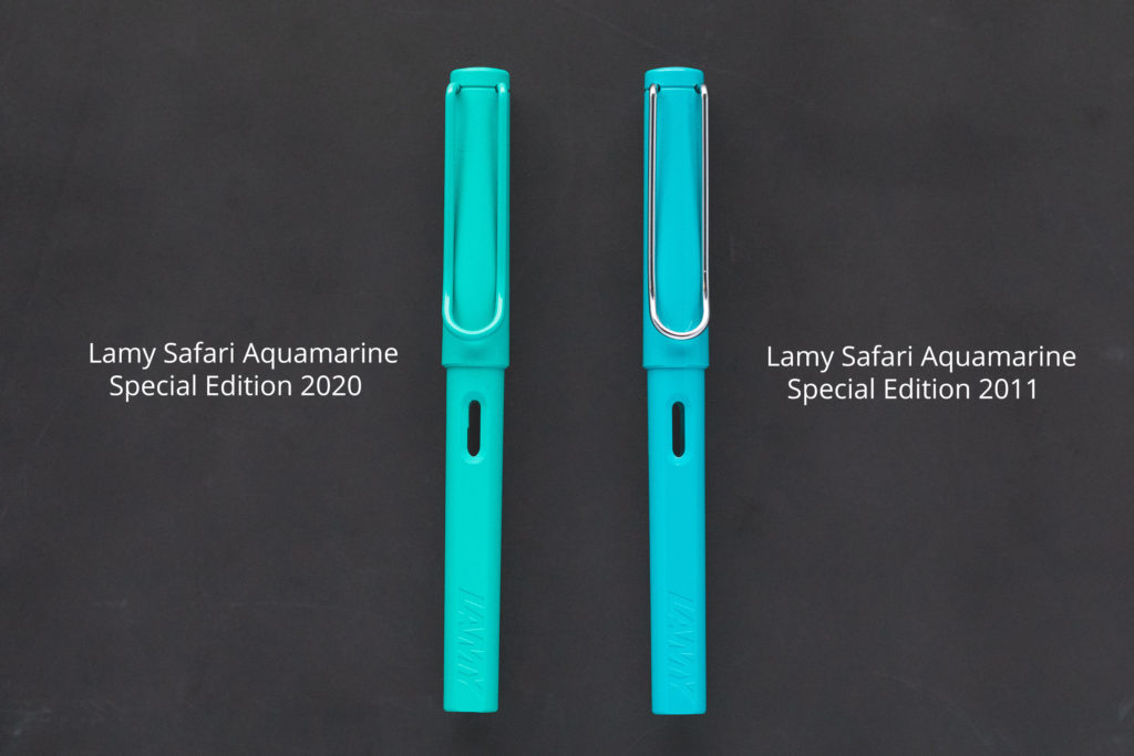 LAMY Safari Aquamarine Comparison
