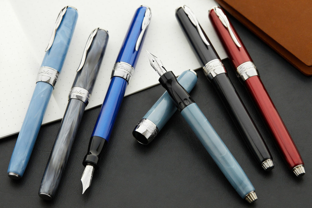 The Pineider Full Metal Jacket Fountain Pens
